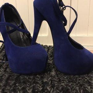 Shoes - Royal Blue Stiletto Heels
